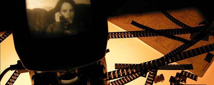Old fashioned 8mm film editing